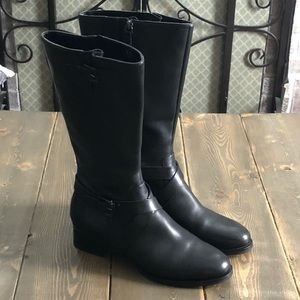 Ecco mid calf zip up boots